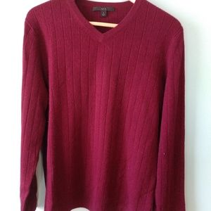 Maroon Apt. 9 Cashmere sweater